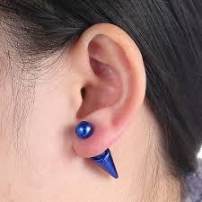 aliexpress buy new fashion shiny sides pearl earring