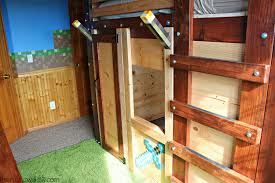DIY Fort Bed Minecraft Bed The Rustic Willow - Minecraft bunk bed
