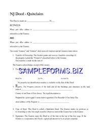 new jersey quitclaim deed form 2 pdf free u2014 1 pages
