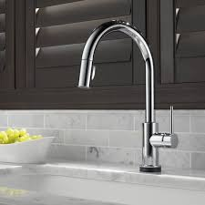 touch kitchen faucet delta trinsic pull touch single handle kitchen faucet with