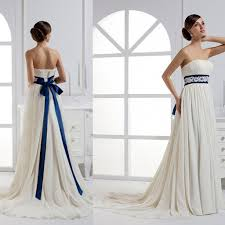 collections of white short dress with blue ribbon belt country