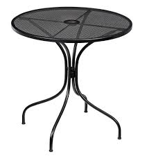 Black Bistro Table And Chairs Patio Ideas Hampton Bay Nantucket Round Metal Outdoor Bistro
