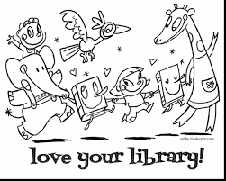 brilliant coloring sheets with library coloring pages