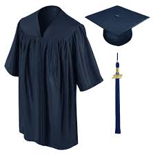 graduation cap and gowns navy blue kindergarten cap gown tassel gradshop