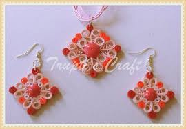 quilling earrings set trupti s craft paper quilling jewelry set for team event