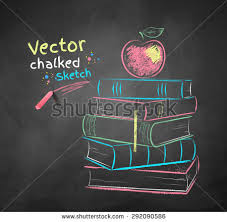 drawn apple chalkboard pencil and in color drawn apple chalkboard