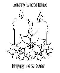 merry christmas candle happy coloring pages
