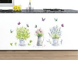 cartoon flowerpot butterfly wall decals green nature bonsai cartoon flowerpot butterfly wall decals green nature bonsai stickers for kitchen room window glass bathroom