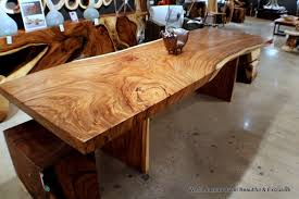Acacia Wood Dining Table Slab Wood Dining Table Best Gallery Of Tables Furniture
