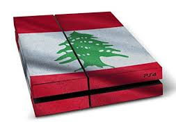 playstation 4 design sony playstation 4 design skin flag of lebanon decal sticker for