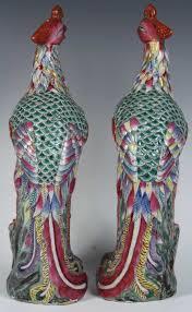 of chinese export porcelain bird figures