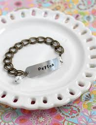 Homemade Gift Ideas by Pitterandglink A Handmade Gift Idea Diy Metal Stamped Bracelet