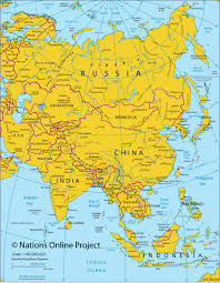 Map Of Asian Countries Political Map Of Asia With Cities You Can See A Map Of Many
