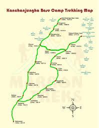 Nepal Map World by Trekking In Nepal Kanchenjunga Region