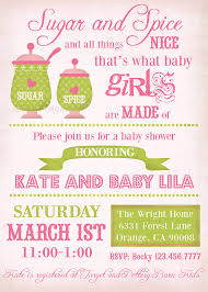 sugar and spice baby shower baby girl shower invitation vintage sugar and by lillymaedesigns