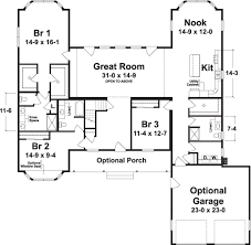 the lake house 2559 square foot ranch floor plan