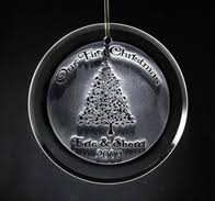 ornaments engraved glass ornaments baby s