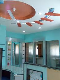 ceiling design for office reception place gharexpert