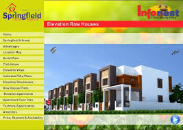 Row Houses Elevation - springfield infonest apartment for sale at ganapathi coimbatore