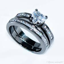 stone rings style images 2018 ring set heart style white zircon stone rings for women men jpg