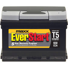 everstart maxx lead acid automotive battery group size t5