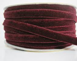 velvet ribbon wholesale burgundy velvet ribbon etsy