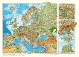 Physical Maps Maps Of Europe Map Of Europe In English Political