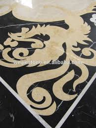 style marble inlay flooring design cheap flower shape