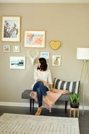 how to properly hang a gallery wall