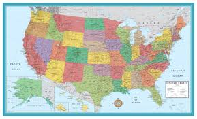 United States Map With Oceans by Amazon Com 48x78 Huge United States Usa Classic Elite Wall Map