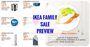 ikea family price ikea one day family sale preview free breakfast 3 august 2016