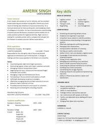 Career Summary Resume Example by Logistics Manager Resume Career Summary Work Experience Writing