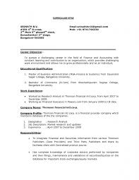 Market Research Sample Resume by Free Sample Resume For Mba Finance Freshers The 25 Best Resume