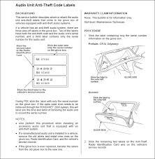 code for radio honda civic i a 2000 honda civic ex with the factory radio