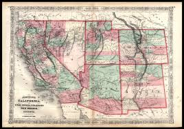 Map Of Nevada And Utah by California Utah Nevada Colorado New Mexico And Arizona A J