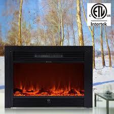 christmas 28 5 u2033 electric fireplace embedded insert heater glass