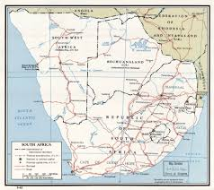 Map Of Colonial Africa by Large Detailed Political Map Of South Africa With Roads And Major