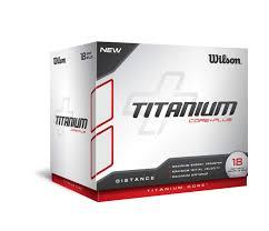 titanium golf ball white 18 pack wilson sporting goods