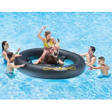 Inflatable Pool Floats by Inflat A Bull Is An Inflatable Bull Riding Pool Toy You U0027ll Enjoy