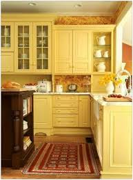 Yellow Kitchen Cabinets - tile design yellow kitchen cabinets and kitchen yellow on pinterest