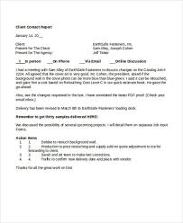 ar report template 9 contact report templates free sle exle format