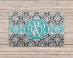 Monogrammed Rugs Outdoor by Personalized Rug Etsy
