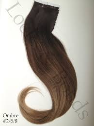 Ombre Hair Extensions Tape In by Dark To Light Golden Brown 22 Inches Remy Human Hair Tape Extensions