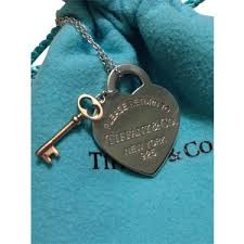 key heart necklace tiffany images Pre owned t co rubedo return to tiffany heart key pendant n out=j