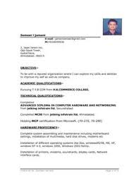 Example Resume Templates by Sample Resume Format For Fresh Graduates One Page Format Resume