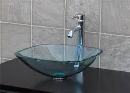 Clear Glass Bathroom Sinks - clear glass bathroom sinks crystal clear glass vessel bathroom