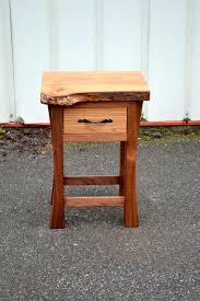 live edge elm and walnut nightstand corey morgan