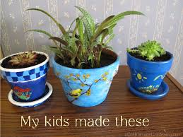 Pots For Plants by Articles With Painting A Clay Flower Pot Tag Painting A Clay Pot