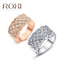 classic rings images Roxi classic rings rose gold color engagement ring with genuine jpg