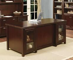Cherry Home Office Desk Tribeca Loft Cherry Pedestal Executive Desk With Regard To